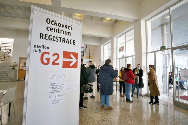 V provizorní nemocnici v Brně vzniklo očkovací centrum