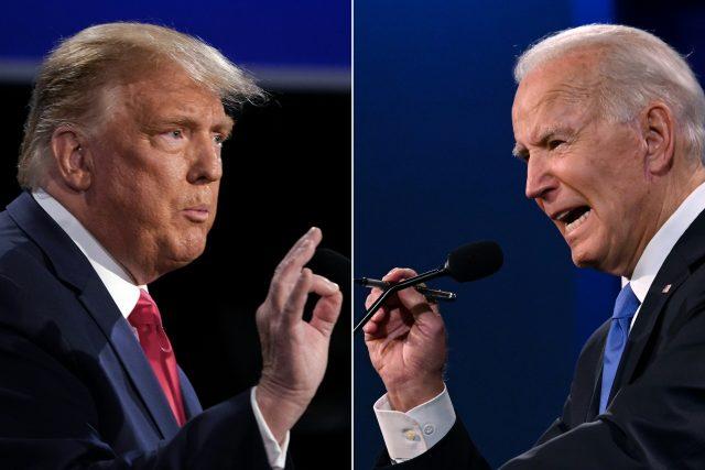 Donald Trump a Joe Biden v předvolebním klání amerických voleb | foto: Fotobanka Profimedia