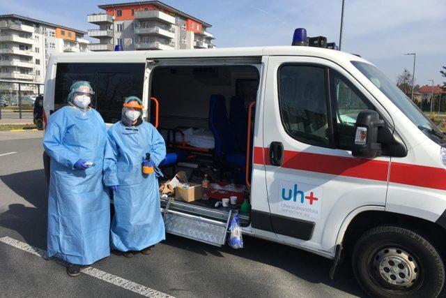Zdravotnice z nemocnice v Uherském Hradišti | foto: Štíty pro Hradiště