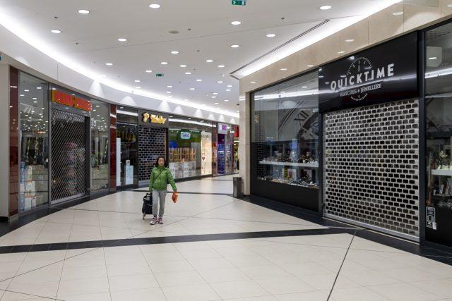 Prázdné nákupní centrum v Ústí nad Labem