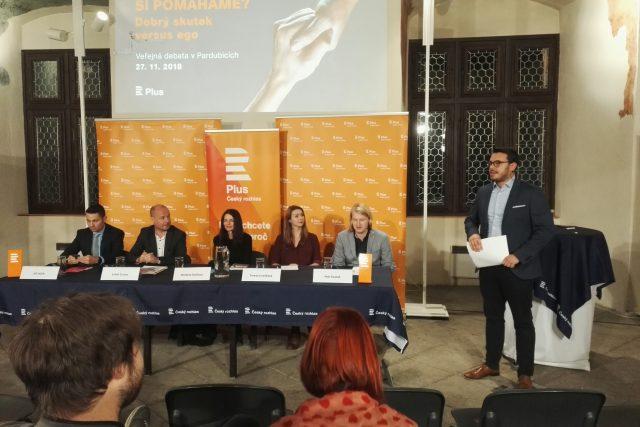 Veřejná debata Českého rozhlasu Plus v Pardubicích