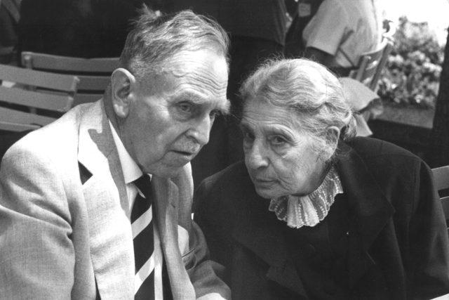 Otto Hahn a Lise Meitnerová v roce 1962