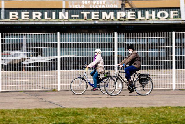 Berlín, jaro, koronavirus