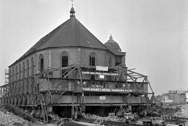 Přesun kostela Nanebevzetí Panny Marie v Mostě