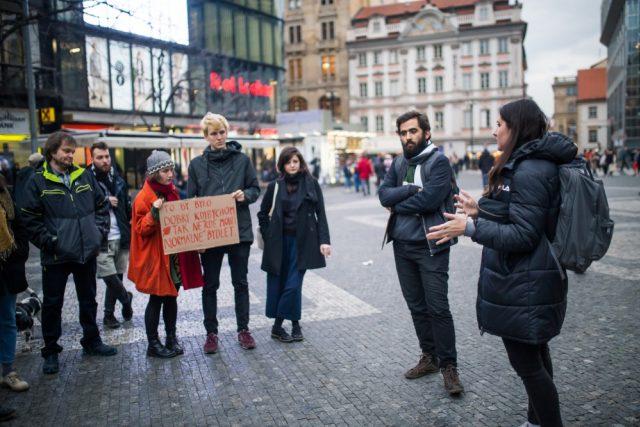 Z protestu Stopairbnb.cz