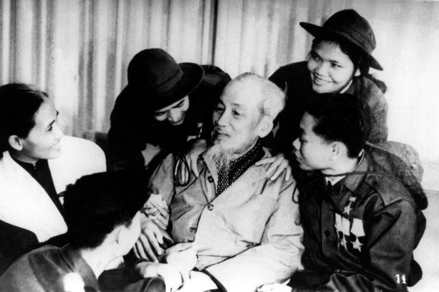 Prezident Vietnamské demokratické republiky Ho Či Min v roce 1960