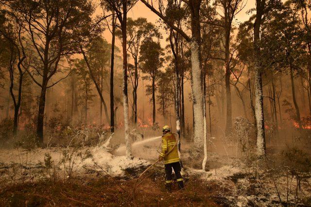 Hasič v New South Wales v Austrálii