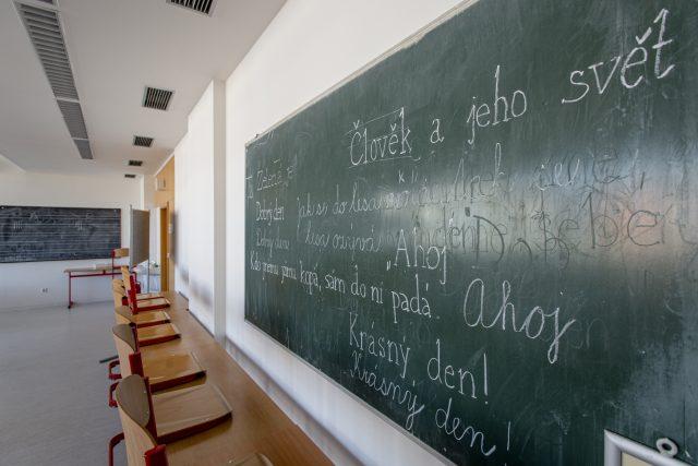 Prázdná školní třída