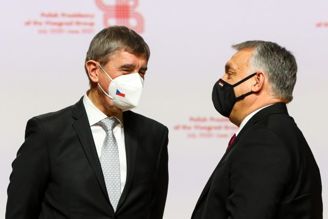 Andrej Babiš  (ANO) a Viktor Orbán | foto: Profimedia