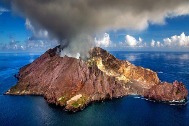 sopka na Novém Zélandu