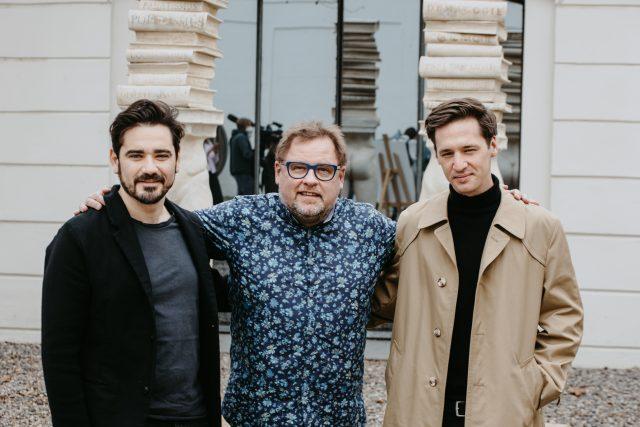 Vojta Kotek,  Václav Kopta a Jan Nedbal na zkoušce představení Werich | foto: Jakub Macháček