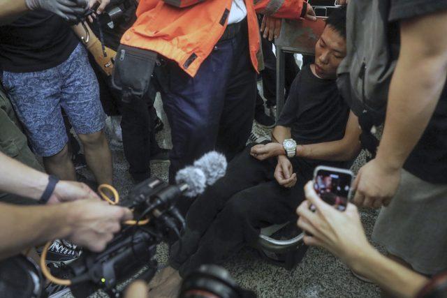 Hongkong,  demonstrace   foto: Vincent Yu,  ČTK/AP