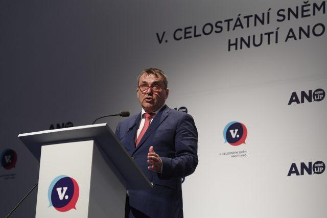 Místopředseda hnutí ANO Petr Vokřál na celostátním sněmu ANO