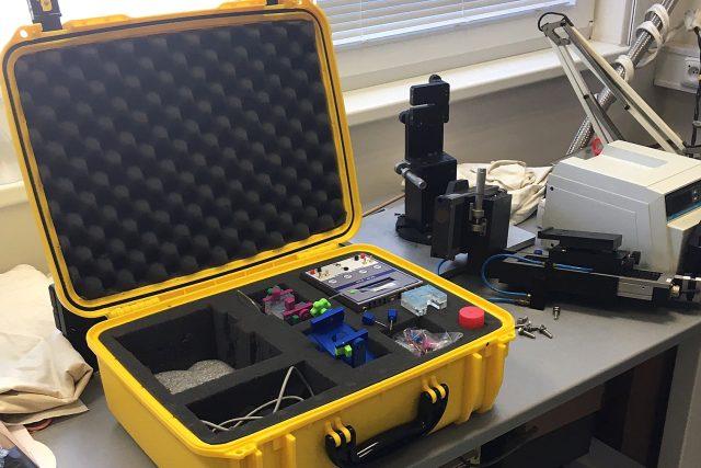 Takto by mohl vypadat přenosný biosenzor na koronavirus do terénu. | foto: Eva Kézrová,  Český rozhlas