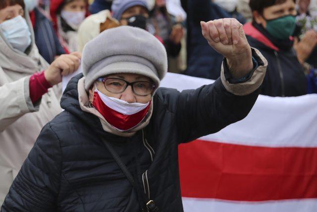 Bělorusko - demonstrace proti režimu v Minsku 12. října 2020