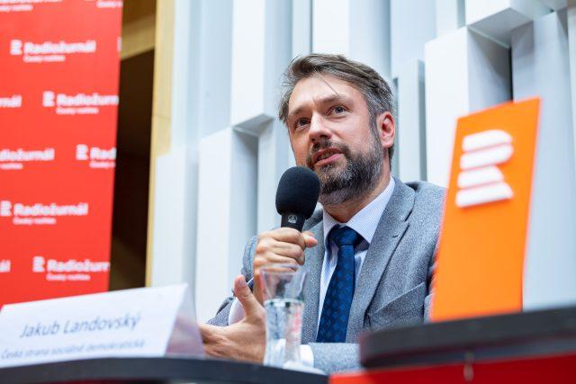 Druhá debata s kandidáty na pražského primátora. Jakub Landovský