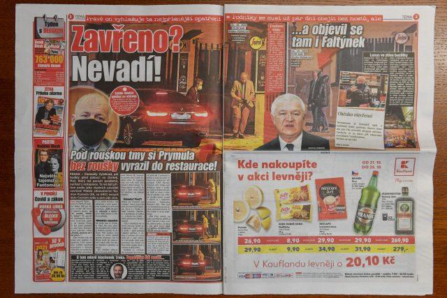 Deník Blesk zveřejnil informaci o tom, že ministr zdravotnictví Roman Prymula byl 21. října 2020 pozdě večer navzdory zákazu v restauraci na pražském Vyšehradě