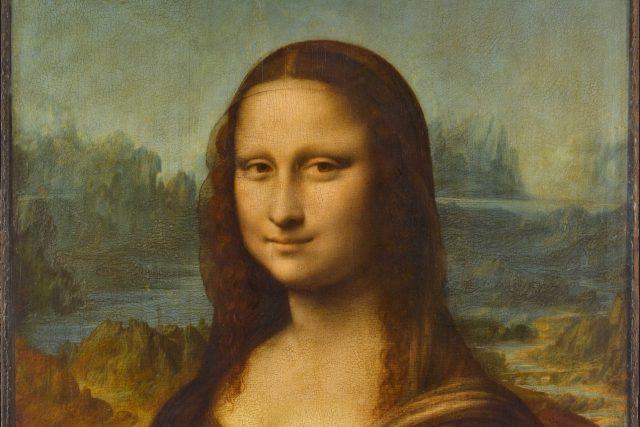 Leonardo da Vinci: Mona Lisa (Louvre, Paříž)