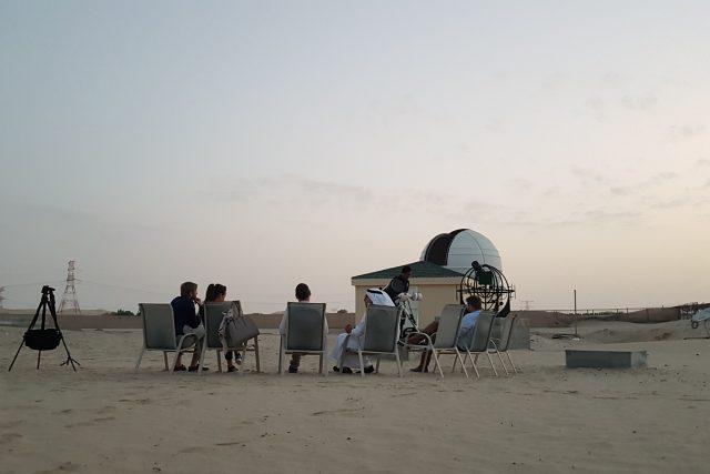 Observatoř nedaleko Abú Dhabí
