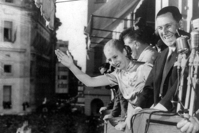 Eva a Juan Perónovi