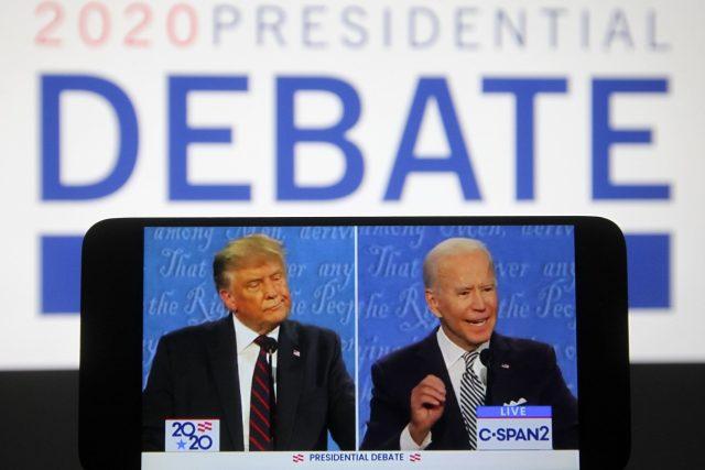 První prezidentská debata kandidátů na amerického prezidenta Donalda Trumpa a Joea Bidena