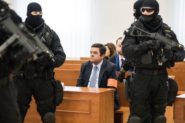 Marian Kočner během veřejného zasedání na speciálním soudu v Pezinku