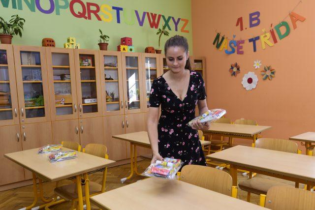 Přípravy na nový školní rok v olomoucké základní škole | foto: Luděk Peřina,  ČTK