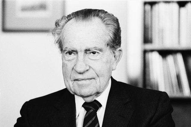 Richard Nixon na návštěvě v Praze, 1993