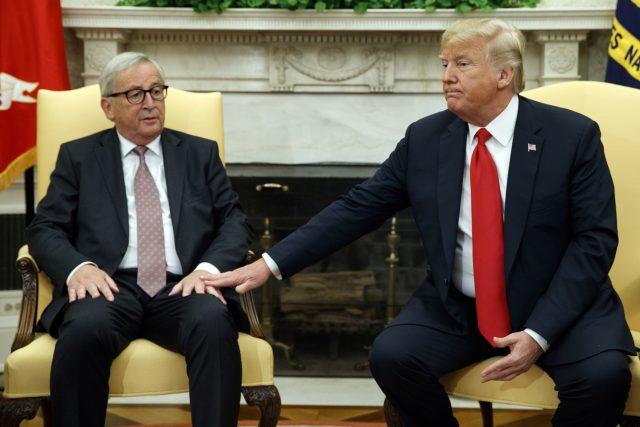 Setkání šéfa Evropské komise Jeana-Clauda Junckera s americkým prezidentem Donaldem Trumpem ve Washingtonu