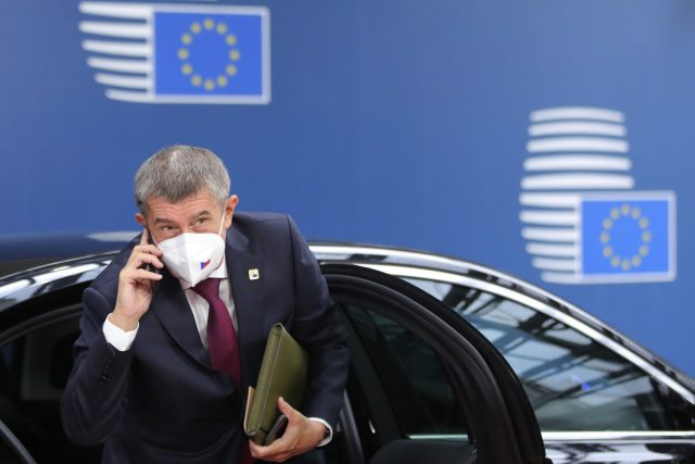Andrej Babiš přijíždí na summit EU v Bruselu