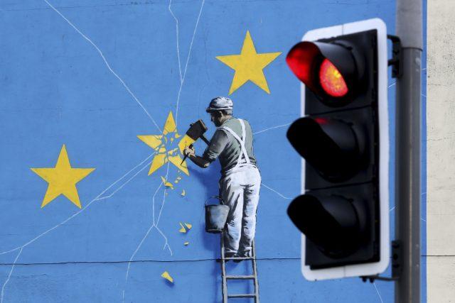 Brexit pohledem street artového umělce Banksyho