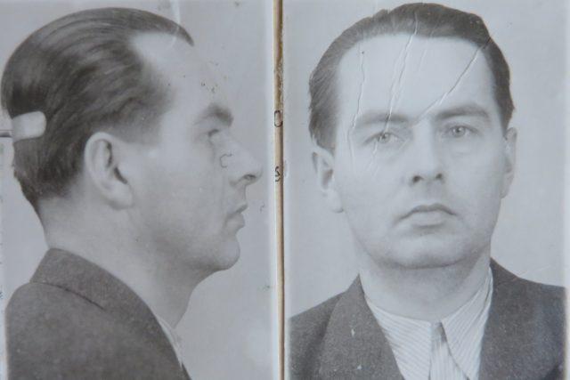 Václav Šmejkal na fotografii z vězeňského spisu