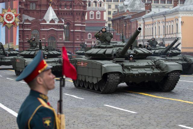 Oslavy konce druhé světové války v Moskvě na Rudém náměstí