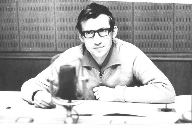 Karel Sedláček jako mladý hlasatel v roce 1968 | foto: archiv Karla Sedláčka