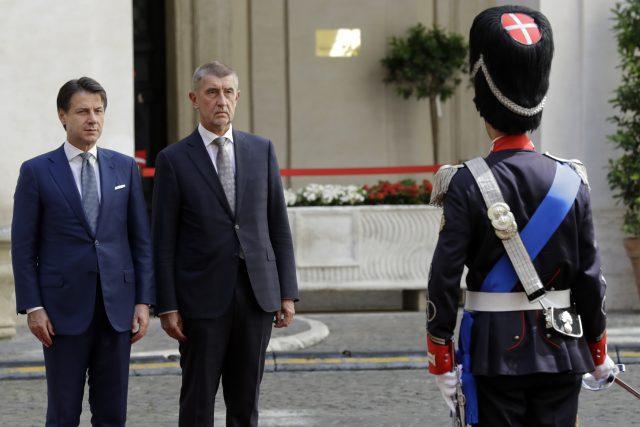 Andrej Babiš na návštěvě Itálie | foto: Andrew Medichini, ČTK/AP