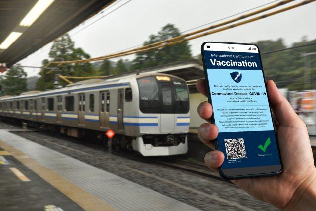 Digitální covid pas,  který je vyžadován k cestování na mezinárodních linkách | foto: Fotobanka Profimedia