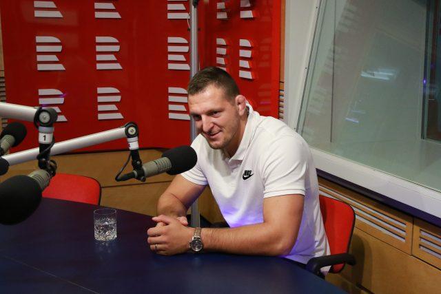 Judista Lukáš Krpálek ve studiu Radiožurnálu