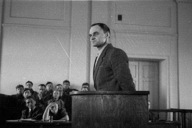 Witold Pilecki před soudem ve Varšavě 3. března 1948 | foto: Fotobanka Profimedia