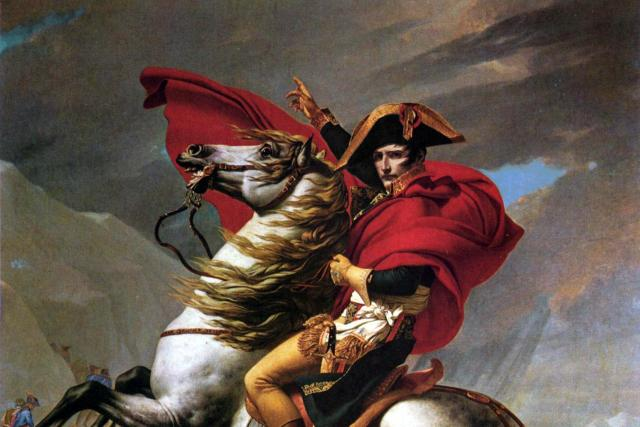 Napoleon Bonaparte při přechodu Alp