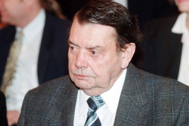 Spisovatel Karel Pecka v roce 1996   foto: Michal Krumphanzl,  ČTK
