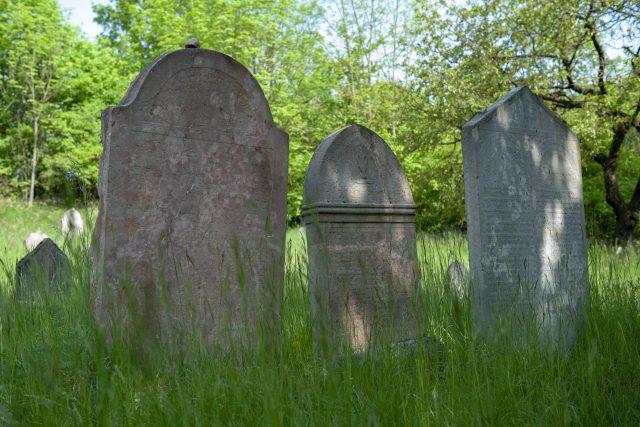 Náhrobek otce Jakoba Polaka na hřbitově v Mořině | foto: Monika Žitníková
