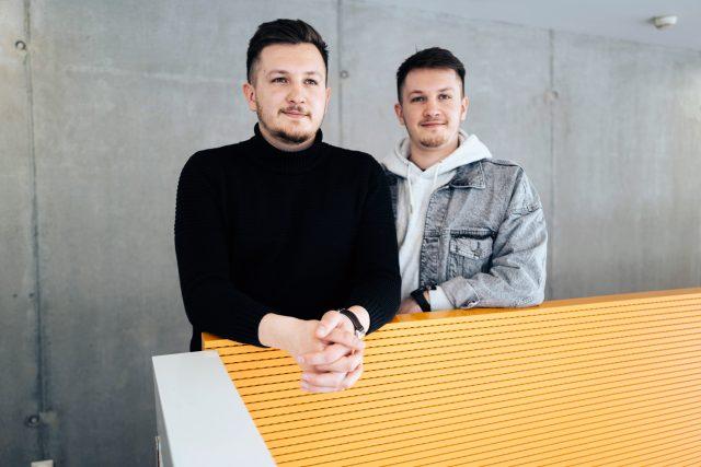 Jan a Dominik Herkovi,  hosté Naděždy Hávové v pořadu Hovory   foto: Bohumila Reková