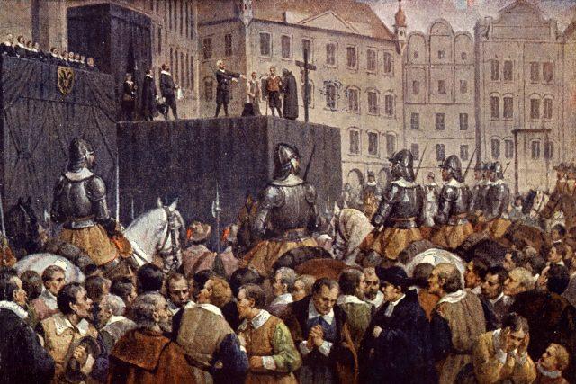 Poprava 27 českých pánů na Staroměstském náměstí roku 1621 | foto: Fotobanka Profimedia