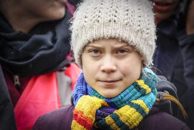 Aktivistka Greta Thunberg v Bruselu | foto: Fotobanka Profimedia