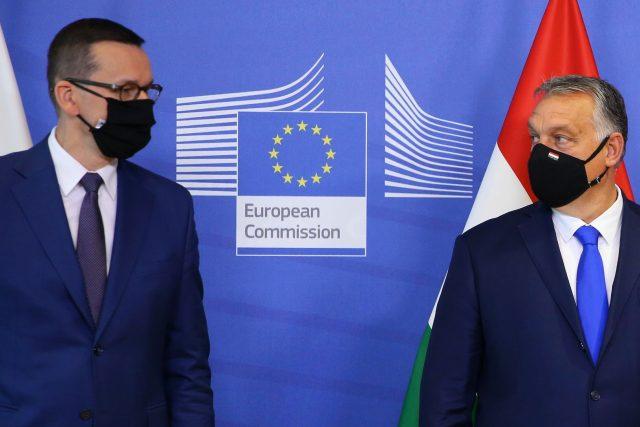 Premiéři Polska a Maďarska Mateusz Morawiecki a Viktor Orbán
