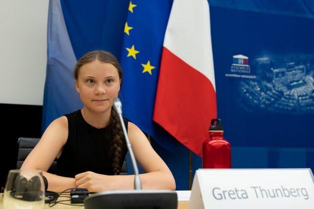 Aktivistka Greta Thunbergová v Paříži