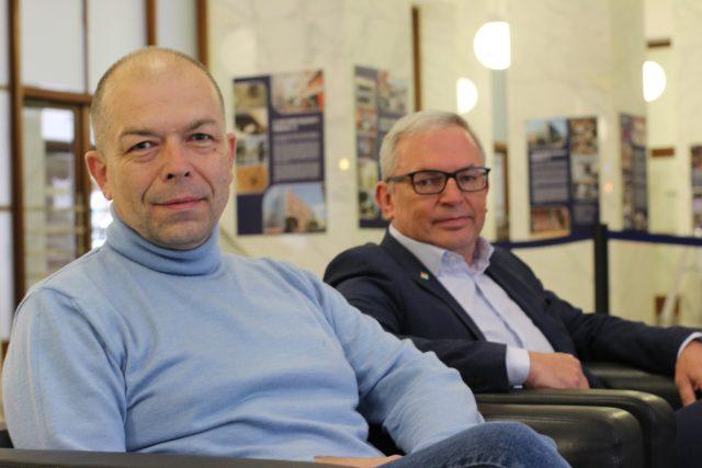Eduard Stehlík,  David Smoljak | foto: Kateřina Cibulka,  Český rozhlas Plus