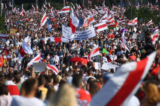 Protesty v Bělorusku pokračují už třetí týden