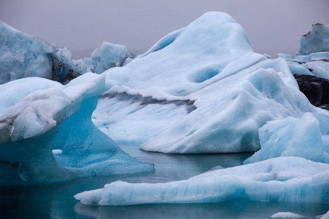 Ledové útvary na Islandu
