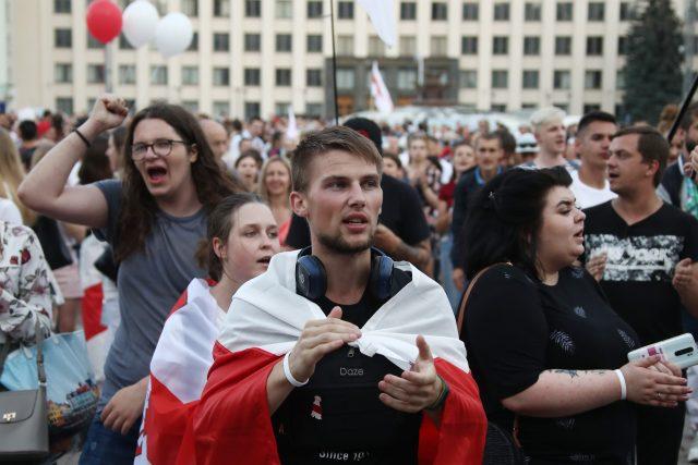 Protesty v běloruském Minsku